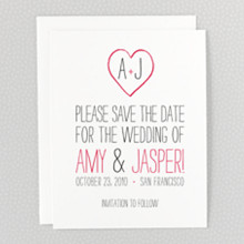 Big Day---Letterpress Save the Date