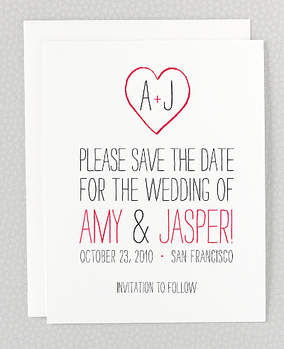 Big Day Letterpress Save the Date Card