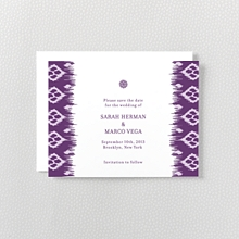 Bohemian: Letterpress Save the Date