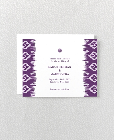 Bohemian Letterpress Save the Date Card