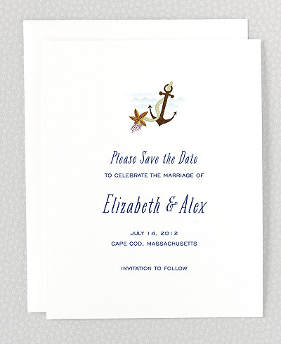 Cape Cod Save the Date Card
