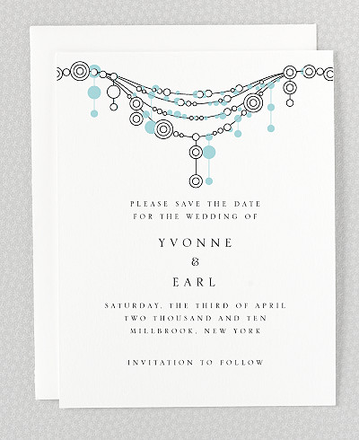 Chandelier Letterpress Save the Date Card