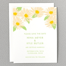 Daisy - Letterpress Save the Date