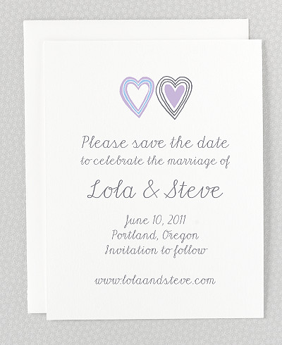 Daydream Letterpress Save the Date Card