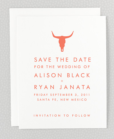 Desert Skyline Save the Date Card