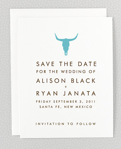 Desert Skyline Letterpress Save the Date Card
