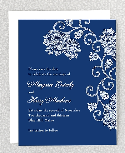 Duchesse Save the Date Card