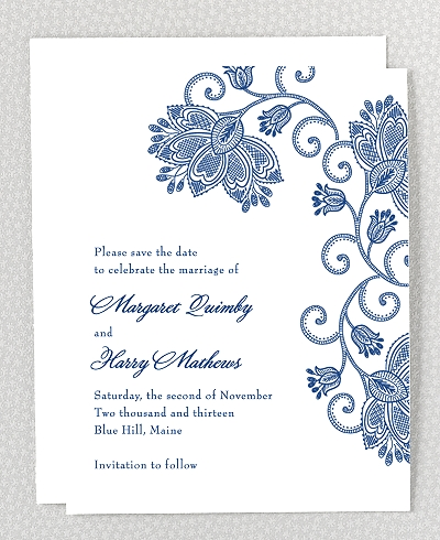 Duchesse Letterpress Save the Date Card