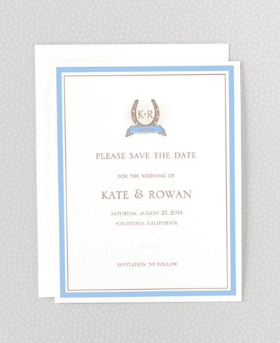 Elegant Equestrian Save the Date