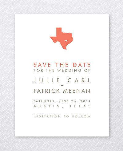 Austin Skyline Save the Date Card