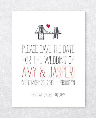 Big Day Brooklyn Letterpress Save the Date Card