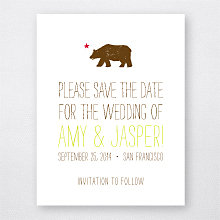 Big Day California---Letterpress Save the Date