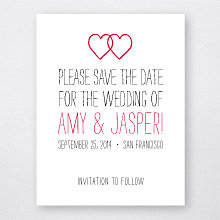 Big Day Hearts---Letterpress Save the Date
