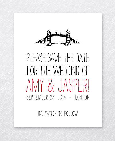 Big Day London Letterpress Save the Date Card