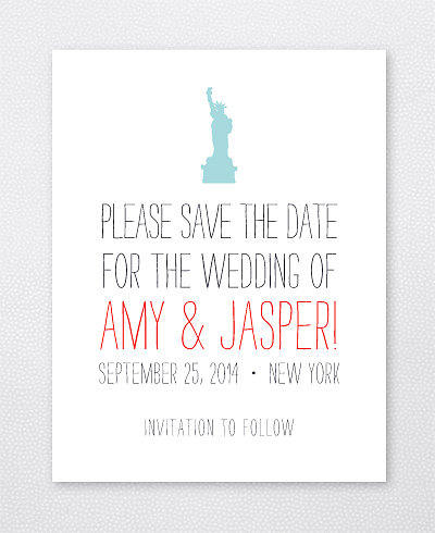 Big Day New York Letterpress Save the Date Card