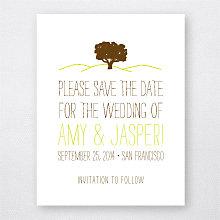 Big Day Oak---Letterpress Save the Date