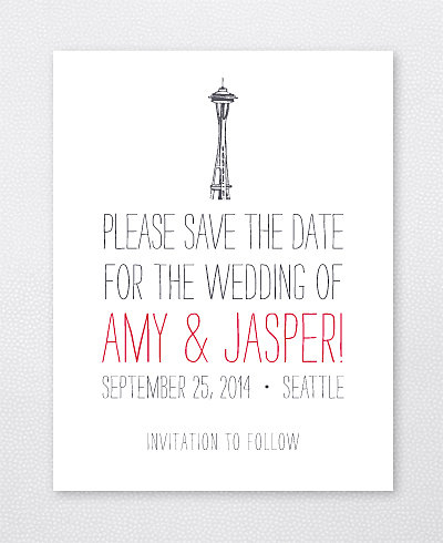 Big Day Seattle Letterpress Save the Date Card