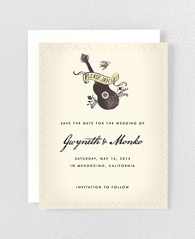 Bluegrass Save the Date Card
