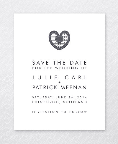 Edinburgh Skyline Save the Date Card