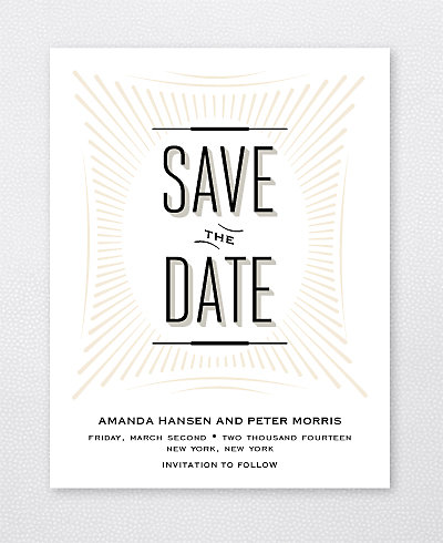 Flourish Save the Date Card