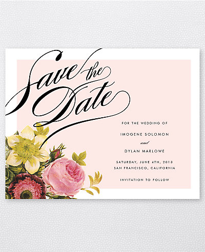 La Vie en Rose Save the Date Card