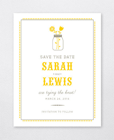 Lemonade Stand Save the Date Card
