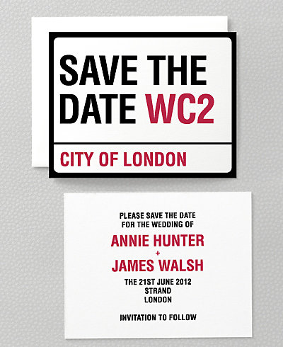 Love London Save the Date Card