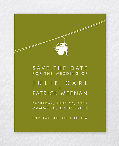 Mountain Skyline Save the Date Card
