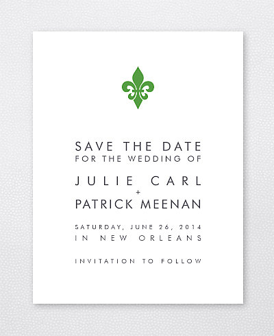 New Orleans Skyline Save the Date Card