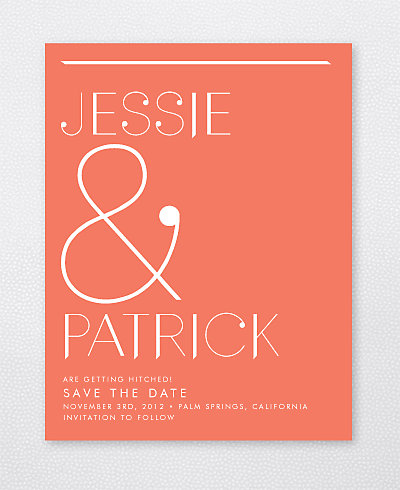 Pop Deco Save the Date Card
