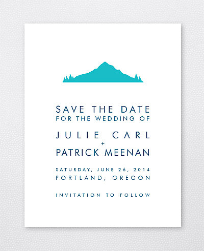 Portland Skyline Save the Date Card
