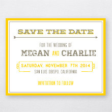 Shields and Arrows - Letterpress Save the Date