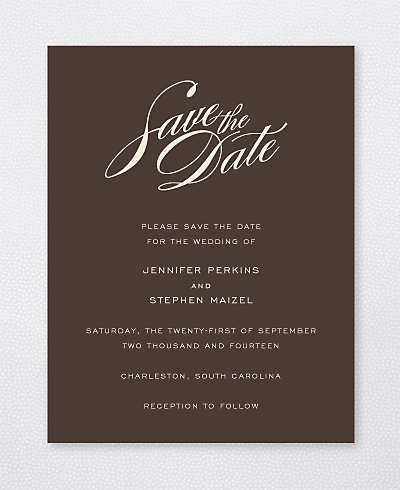 Symphony Save the Date Card