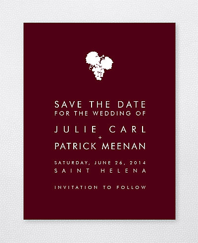 Wine Country Skyline Save the Date Card