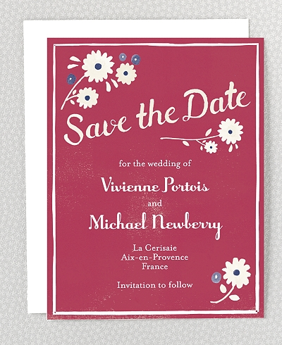 French Bicycle Save the Date Card