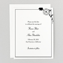 French Deco---Letterpress Save the Date
