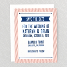 Hearts and Arrows---Letterpress Save the Date