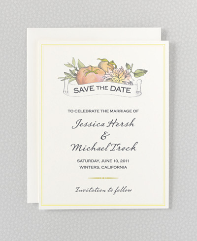Heirloom Harvest Save the Date Card