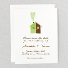 Home Sweet Home---Letterpress Save the Date