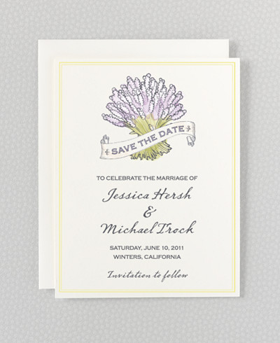 Lavender Harvest Save the Date