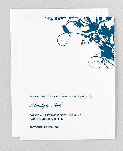 L'Oiseau Save the Date Card
