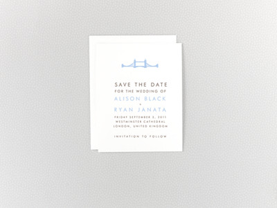 London Skyline Save the Date Card