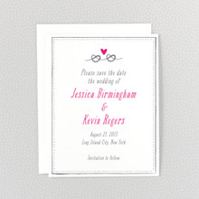 Love Knot---Letterpress Save the Date