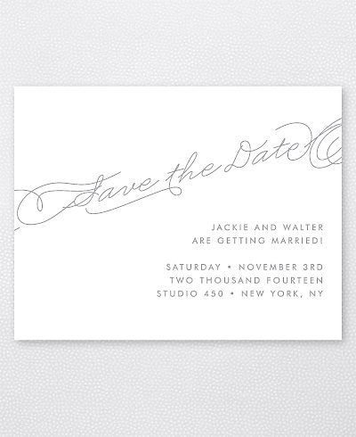 Atlantic Foil/Letterpress Save the Date Card