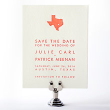 Austin Skyline: Letterpress Save the Date