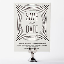 Flourish - Letterpress Save the Date