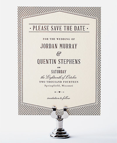Havana Letterpress Save the Date Card