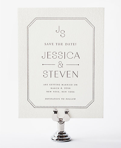 Morris Letterpress Save the Date Card