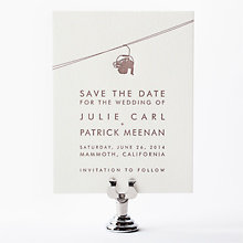 Mountain Skyline: Letterpress Save the Date