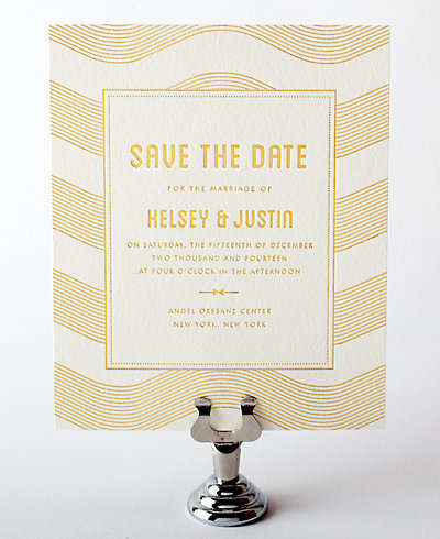 Parker Foil/Letterpress Save the Date Card